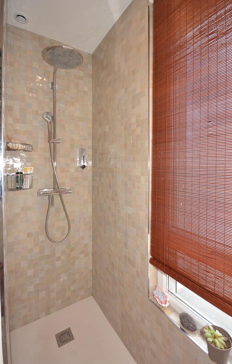 douche à l'italienne et zellige
