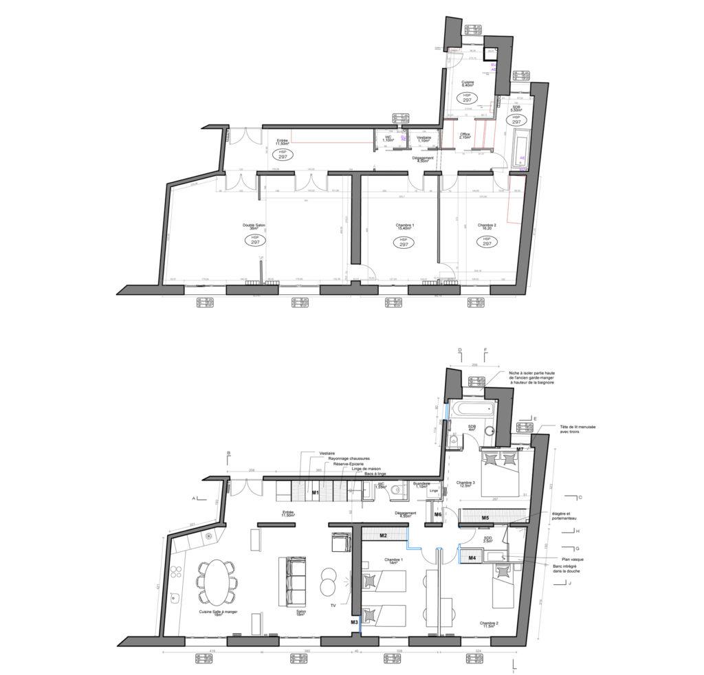 avant après, Rénovation appartement