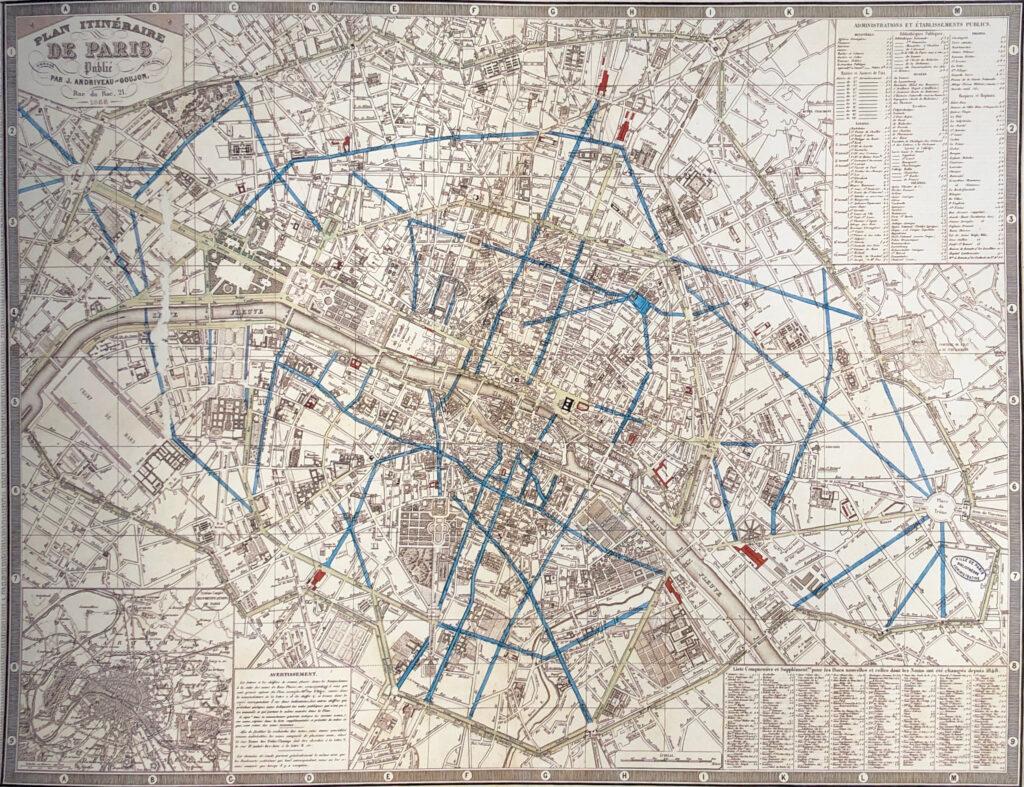 les percées prévues par Napoléon III