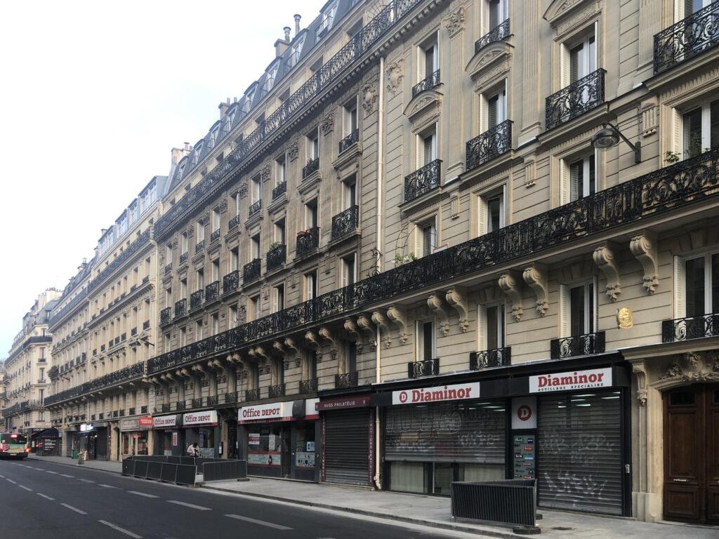 Immeubles Haussmanniens rue Châteaudun