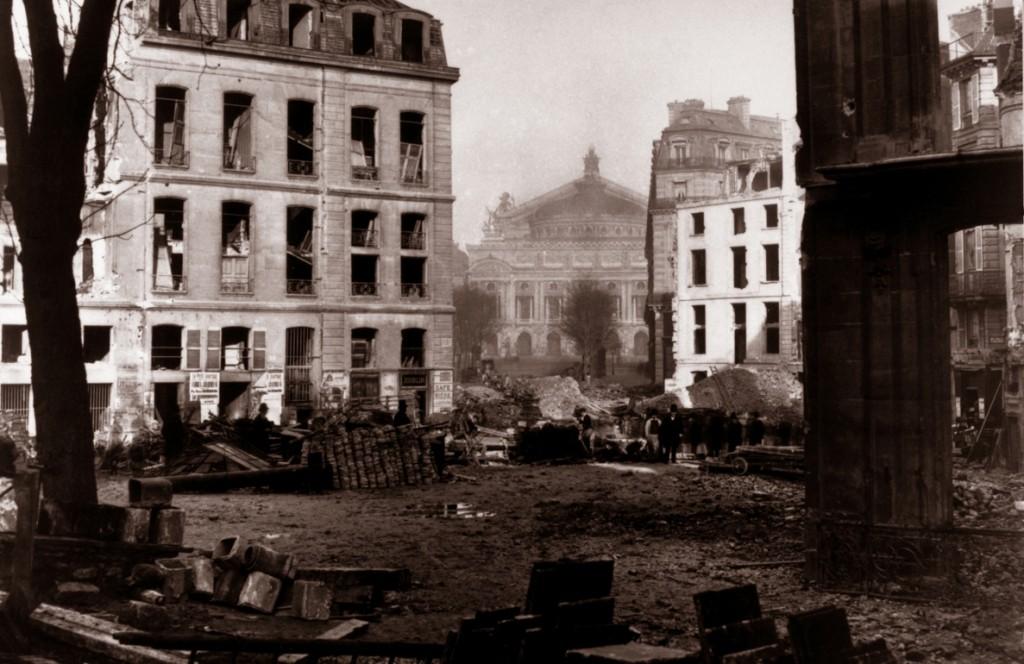 Avenue de l'opéra en 1870